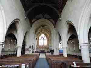 Inside St Johns Sutton Veny