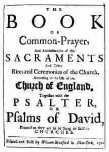 Book of common prayer schedule